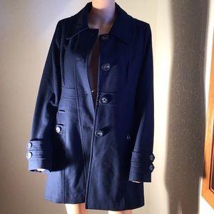 Tulle Wool Coat